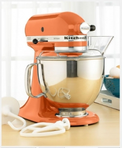 orange kitchen aid mixer